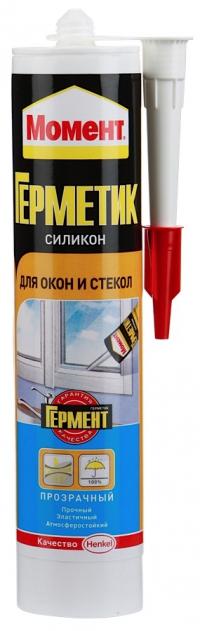 МОМЕНТ Герметик силикон для окон и стекол Прозрачный 280 мл в Орехово-Зуево СтройДвор на Карболите