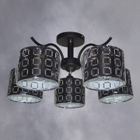 Люстра 51239/5 BK черный 5х40W E27 LNGSH17 в Орехово-Зуево СтройДвор на Карболите