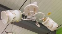 Люстра белая с золотом на две лампы 15318/2 WT+FG в Орехово-Зуево СтройДвор на Карболите