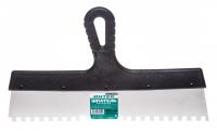 Шпатель с пластиковой ручкой 350 мм зуб 8 х 8 в Орехово-Зуево СтройДвор на Карболите