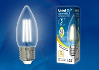 Лампа св/д LED-C35-5W/NW/E27/CL/DIM GLA01TR диммируемая 4000К