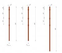 Столб заборный круглый Ø50 с крючком 2,9 м в Орехово-Зуево СтройДвор на Карболите