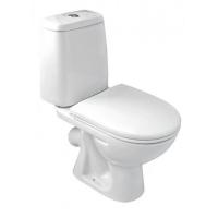 Унитаз-компакт PRIMA белый (косой слив, подвод снизу, stop, сиденье) Cersanit в Орехово-Зуево СтройДвор на Карболите