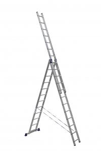 Лестница алюминиевая 3-х секц 12 ступеней (5312) в Орехово-Зуево СтройДвор на Карболите