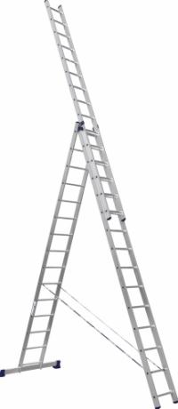 Лестница алюминиевая 3-х секц 15 ступеней (6315) в Орехово-Зуево СтройДвор на Карболите