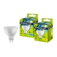 Лампа св/д Ergolux LED JCDR 5W GU5.3 3000K в Орехово-Зуево СтройДвор на Карболите