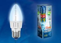 Лампа св/д диммируемая LED-C37-6W/NW/E27/FR/DIM ALP01WH Форма