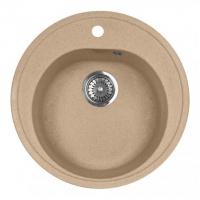 Мойка для кухни из искусственного мрамора, круглая М-08 AquaGranitEx 510 х 380 х 180 в Орехово-Зуево СтройДвор на Карболите