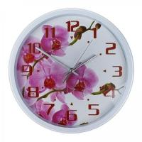 Часы настенные Energy EC-110 Орхидея 25 х3,8 см круглые, плавный ход в Орехово-Зуево СтройДвор на Карболите