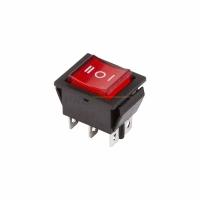 Выкл. клавишный 250V 15A ON-OFF-ON (6с) красный с подсв. RWB-509 в Орехово-Зуево СтройДвор на Карболите
