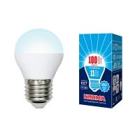 Лампа светодиодная Volpe LED-G45-11W/NW/E27/FR/NR шар матовая 4000K в Орехово-Зуево СтройДвор на Карболите