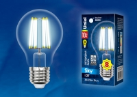 Лампа светодиодная LED-A60-10W/NW/E27/CL PLS02WH 4000К