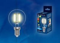 Лампа св/д LED-G45-6W/WW/E14/FR PLS02WH шар матовая Белый теплый свет в Орехово-Зуево СтройДвор на Карболите