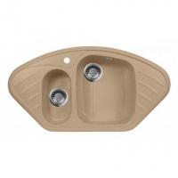 Мойка для кухни искусственный мрамор многоугольная М-14 AquaGranitEx 950 х 510/345 х 410/170 х 325/170/130 в Орехово-Зуево СтройДвор на Карболите
