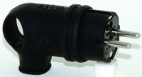 Вилка угловая каучук 2P+Е 1х16 220-240V черн. IP44 в Орехово-Зуево СтройДвор на Карболите