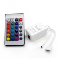 Контроллер для управления светодиодной лентой RGB 72Вт с пультом 24 кнопки в Орехово-Зуево СтройДвор на Карболите