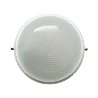 Св-к влагозащит. IP54 60W E27 круг без реш белый (170x75) основание 15мм в Орехово-Зуево СтройДвор на Карболите