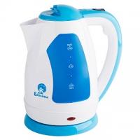 Чайник электрический пластиковый, 2л Белый/голубой в Орехово-Зуево СтройДвор на Карболите