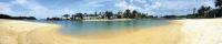 Фартук АБС Тропический пляж 600 х 3000 мм в Орехово-Зуево СтройДвор на Карболите
