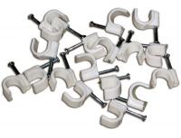 Скобы для кабеля пластиковые ПЛОСКИЕ 8 мм 50 шт в Орехово-Зуево СтройДвор на Карболите