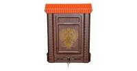 Ящик почтовый ПРЕМИУМ с металлическим замком ОРЕЛ коричневый в Орехово-Зуево СтройДвор на Карболите