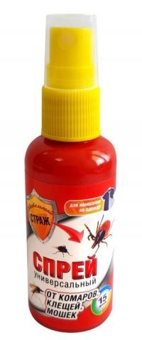 БДИТЕЛЬНЫЙ СТРАЖ Лосьон-спрей от комаров, клещей, слепней 50 мл в Орехово-Зуево СтройДвор на Карболите