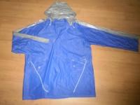 Дождевик куртка на кнопках AST №2, ПВХ, 180мк, XL, синий (капюшон, карманы) в Орехово-Зуево СтройДвор на Карболите