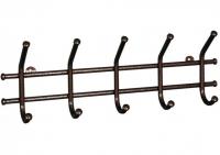 Вешалка для одежды настенная Норма 5 медный антик 48х8х16,5 см ВН24М ЗМИ в Орехово-Зуево СтройДвор на Карболите