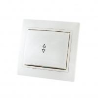 Jilion Выключатель света 1-кл проходной О/У Белый в Орехово-Зуево СтройДвор на Карболите