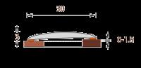 Порог ИЗИ 30 мм 90 см Венге черный в Орехово-Зуево СтройДвор на Карболите