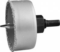 Коронка по керамике с карб. напылением и центр. сверлом 65 мм в Орехово-Зуево СтройДвор на Карболите