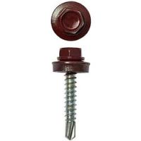 Саморез кровельный цинк. 4,8х50 винно-красный RAL-3005 98303 в Орехово-Зуево СтройДвор на Карболите