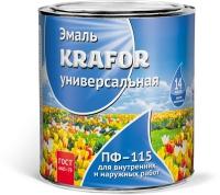 KRAFOR Эмаль ПФ-115 Фиолетовая светлая 2,7 кг в Орехово-Зуево СтройДвор на Карболите