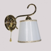 Светильник настенный золото/белый абажур 1х60W Е27 KQ17 в Орехово-Зуево СтройДвор на Карболите