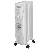 Масляный радиатор для отопления помещений Engy EN-1307F (тепловентилятор) 7секц.(15х57см) 2кВт в Орехово-Зуево СтройДвор на Карболите