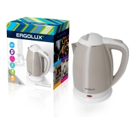 Чайник электрический ERGOLUX ELX-KS02-C18 бежево-белый 1.8 л в Орехово-Зуево СтройДвор на Карболите