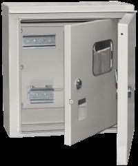 Щит учетно-распределительный навесной ЩУРн-1 IP54 ЩУ-1 2 двери в Орехово-Зуево СтройДвор на Карболите