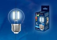 Лампа светодиодная LED-G45-6W/NW/E27/CL PLS02WH