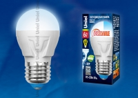 Лампа св/д LED-G45-6W/NW/E27/FR/DIM PLP01WH диммируемая