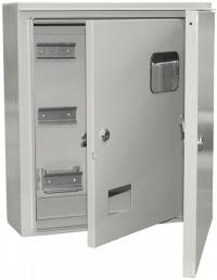 Электрощит учетно-распределительный навесной ЩУРн-3 IP54 ЩУ-3 2 двери в Орехово-Зуево СтройДвор на Карболите