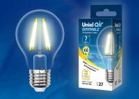 Лампа св/д LED-A60-7W/WW/E27/CL/DIM GLA01TR диммируемая 3000К прозрачная в Орехово-Зуево СтройДвор на Карболите