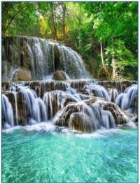 Фотообои 079 Хрустальные водопады 196 х 260 в Орехово-Зуево СтройДвор на Карболите