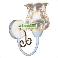 Бра настенное белый с золотым вензелем и полупрозрачным плафоном 1333 DS/1W WG в Орехово-Зуево СтройДвор на Карболите