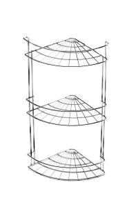 Полка для ванной угловая 3 яруса хром 67-0-655 в Орехово-Зуево СтройДвор на Карболите