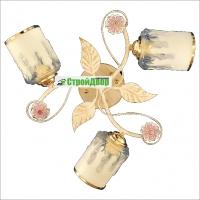Люстра золотые листья с матовым плафоном 15312/3 WG в Орехово-Зуево СтройДвор на Карболите