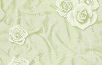 Обои Шелк салатовые с розами флиз 1,06 х 10 м 0203-71 11СБ3 в Орехово-Зуево СтройДвор на Карболите