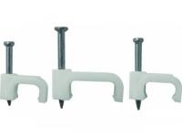 Скобы для кабеля пластиковые ПЛОСКИЕ 7 мм 50 шт в Орехово-Зуево СтройДвор на Карболите