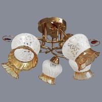Люстра 6769/5 FGD золото 5х40W E27 SHGN18 в Орехово-Зуево СтройДвор на Карболите