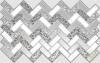 Листовая панель ПВХ плитка Роза в серебре в Орехово-Зуево СтройДвор на Карболите