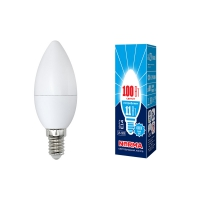 Лампа светодиодная Volpe LED-C37-11W/NW/E14/FR/NR свеча матовая 4000К в Орехово-Зуево СтройДвор на Карболите